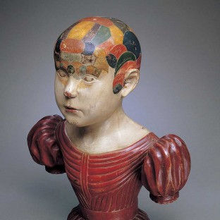 Phrenological head by Asa Ames (1823–1851), Evans, New York, ca. 1850