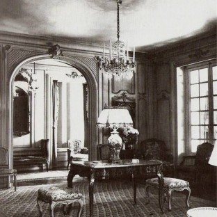 Interior of Elsie de Wolfe's Villa Trianon, her home in Versailles, France