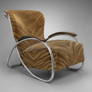 LC-52-A lounge chair designed by Kem Weber for the Lloyd Manufacturing Company