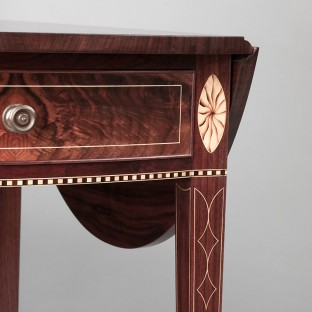 Inlay detail, Pembroke table leg, Steve Latta