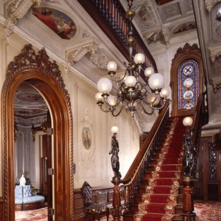 Entry hall, Victoria Mansion, Portland, Maine, built 1858–1860