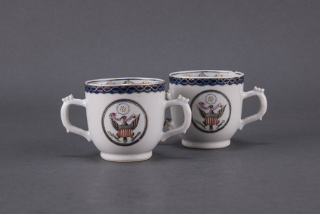 Cups with Great Seal of the United States Made in China, about 1795