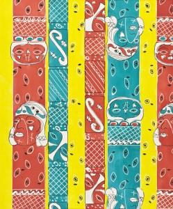 Elza Sunderland (Elza of Hollywood) Untitled Textile Design, 1940s. Los Angeles County Museum of Art