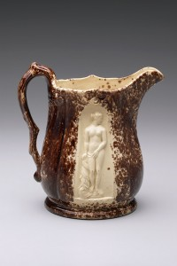 Pitcher, probably New Jersey, about 1853. Earthenware with Rockingham glaze. Yale University Art Gallery, Mabel Brady Garvan Collection