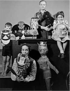 The Girard Family with folk art objects, 1952