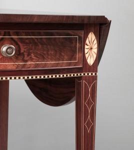 Inlay detail, Pembroke table leg, Steve Latta