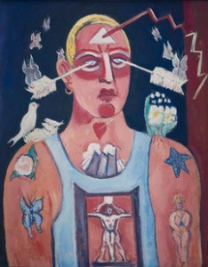 Marsden Hartley, Sustained Comedy, 1939 A whimsical, tormented self portrait