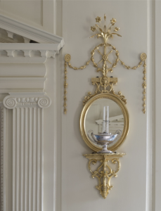 Newly recreated mirror and bracket in Mount Vernon's Front Parlor