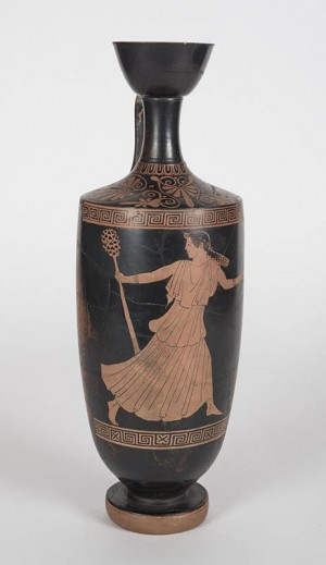 Hermonax Painter (Greek, 5th century BCE), Oil flask (Lekythos)