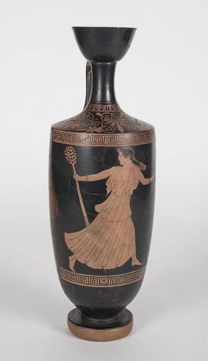 Hermonax Painter (Greek, 5th century BCE), Oil flask (Lekythos)