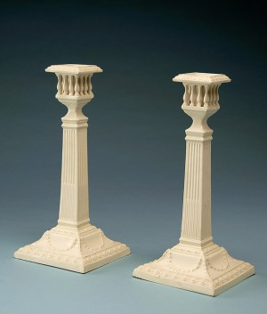 Candlesticks, Staffordshire or Yorkshire, England, ca. 1800