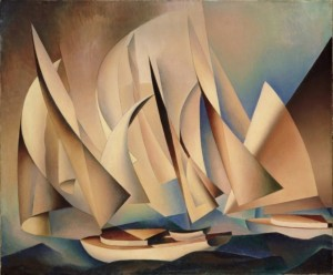 Pertaining to Yachts and Yachting, 1922, by Charles Sheeler