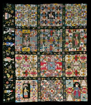 Pieced quilt top fragment, England, 1700–1730