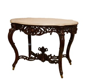Center table, ca. 1861, manufactured or retailed by William McCracken, New Orleans