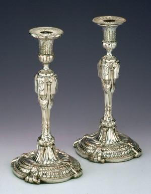 Pair of candlesticks, Matthew Boulton and John Fothergill