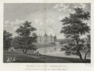 Engraving of Capability Brown's Tong Castle