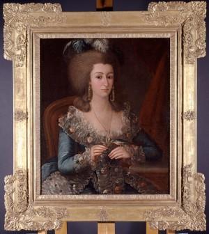 Clara de la Motte, ca. 1795, by Jose Francisco Xavier de Salazar y Mendoza