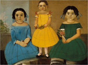 *Three Sisters of the Copeland Family* by William Matthew Prior, ca. 1854