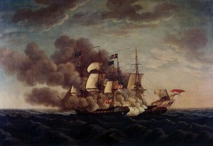 """In Action,"" 1814 by Michele Felice Cornè"
