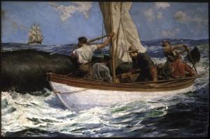 """""""Harpooning a Whale,"""" 1925 by Anton Otto Fischer"""