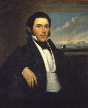 """Portrait of Captain Mercator Cooper,"" circa 1835 by Hubbard Fordham"