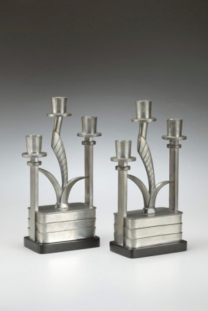 Pair of candelabra designed by Kem Weber, made by Porter Blanchard, 1928
