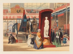 John Absolon, View in the East Nave (The Greek Slave, by Power [sic]; from Recollections of the Great Exhibition, 1851