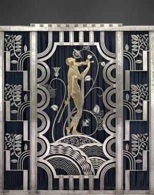 Muse with Violin Screen (detail), 1930. Paul Fehér
