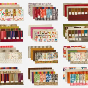 Over 600 textile samples (from Richard Gorecki, traveling salesman for Herman Miller)