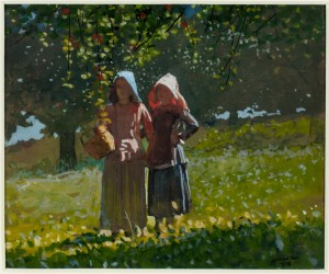 Winslow Homer (1836-1910)  Apple Picking