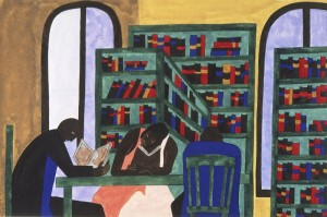 Jacob Lawrence, The Libraries Are Appreciated, 1943, Philadelphia Museum of Art, The Louis E. Stern Collection