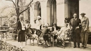 Guests on the terrace at Winterthur, 1935