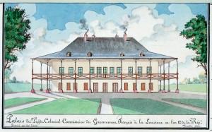 Marigny Plantation, detail of Plan de la Nouvelle Orleans et des Environs dedie au Citoyen Laussat Prefet Colonial et Commissaire de la Republique Francaise