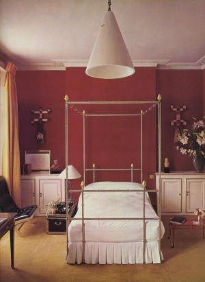 Cecil Beaton's bedroom, London, England
