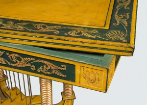 Card Table, Baltimore, 1815-1820. Attributed to Hugh Finlay (1781-1831) detail