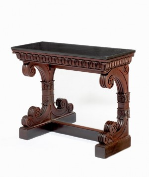 Grecian pier table attributed to Thomas Seymour for Isaac Vose & Son, Boston, ca. 1823-1825