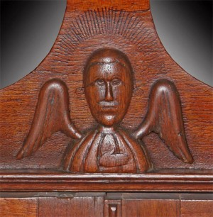 Angel Detail from a Desk and Bookcase, North Carolina, ca. 1800 Private Collection