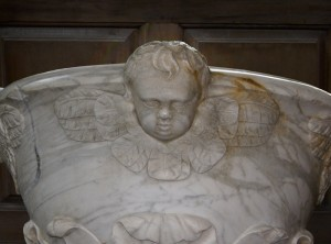 Marble baptismal font, Christ Church
