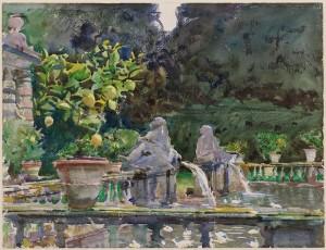 John Singer Sargent (1856-1925) Villa di Marlia Lucca: A Fountain 1910