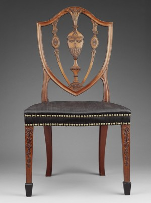 Side chair, Salem, Massachusetts; Carved by Samuel McIntire