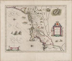 Willem Janszoon Blaeu(Dutch, 1571–1638),Nova Belgica et Anglia Nova