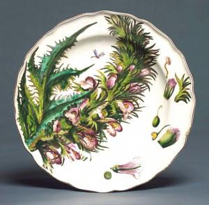 Chelsea plate, c.1755 (Victoria & Albert Museum)