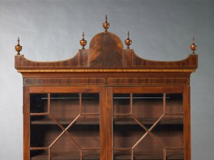 Detail of Secretary bookcase, Norfolk, Virginia, 1795-1805. Private Collection