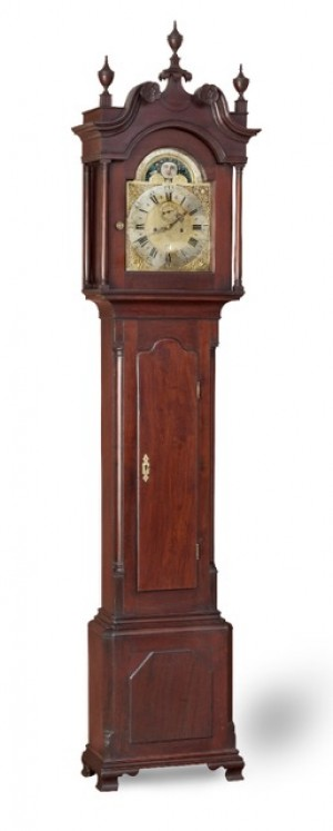 Tall clock, with an 8-day movement by John Jones, and a case by an unknown cabinetmaker, Norfolk, ca. 1760. Private collection