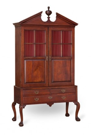 Ledger cabinet, Norfolk, Virginia 1750-1765.  Walnut, oak and yellow pine.  Private Collection.