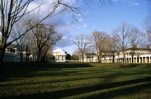 The University of Virginia, designed by Thomas Jefferson, ca 1814-19.  Photograph by Paul V. Turner.