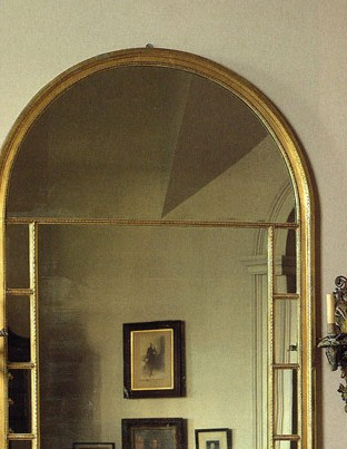 Pier glass, as installed at Monticello, French, ca. 1785
