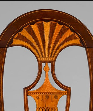 Detail of a Side chair, Norfolk, Virginia, 1795.  Private Collection.