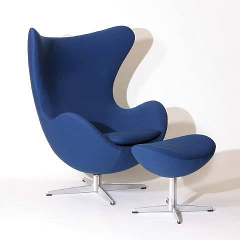 egg chair originally designed 1958 by arne jacobsen for fritz hansen. Black Bedroom Furniture Sets. Home Design Ideas
