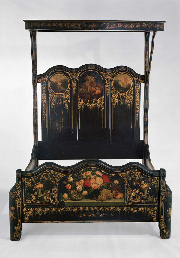Painted Bedstead With Canopy, Circa 1855, Painted By Thomas And Edward Hill  For Heywood Brothers U0026 Company, Gardner, MA, Gift Of Richard N. Greenwood  To The ...